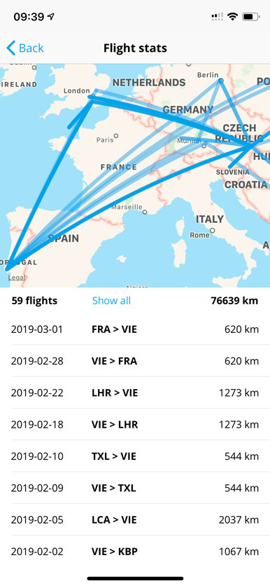 Track your flights